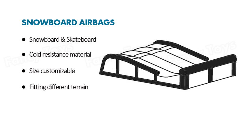 inflatable landing bag for fmx sport , soft landing surface air bag , mototcorss stunt jump air bag