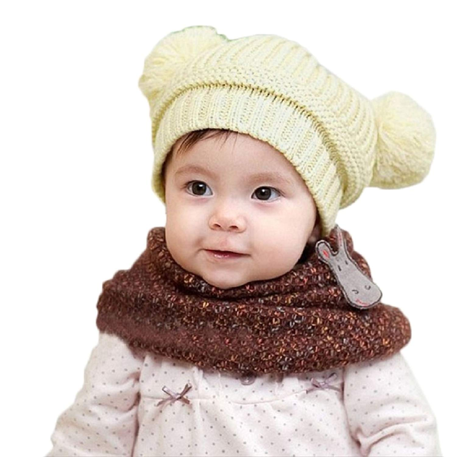 ... Winter Beanie Warm Hat Hooded Knitted Wool Scarf  classic a5e14 c5175  Get Quotations · FEITONG(TM) Cute Baby Kids Girl Boy Dual ... cd24ac9859d2