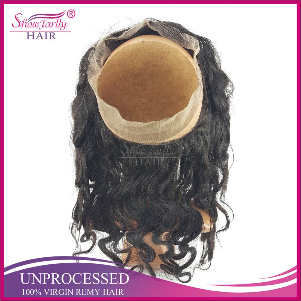 100% human malaysian remy hair 360 frontal lace closure with adjustable strap lace band frontal wig cap