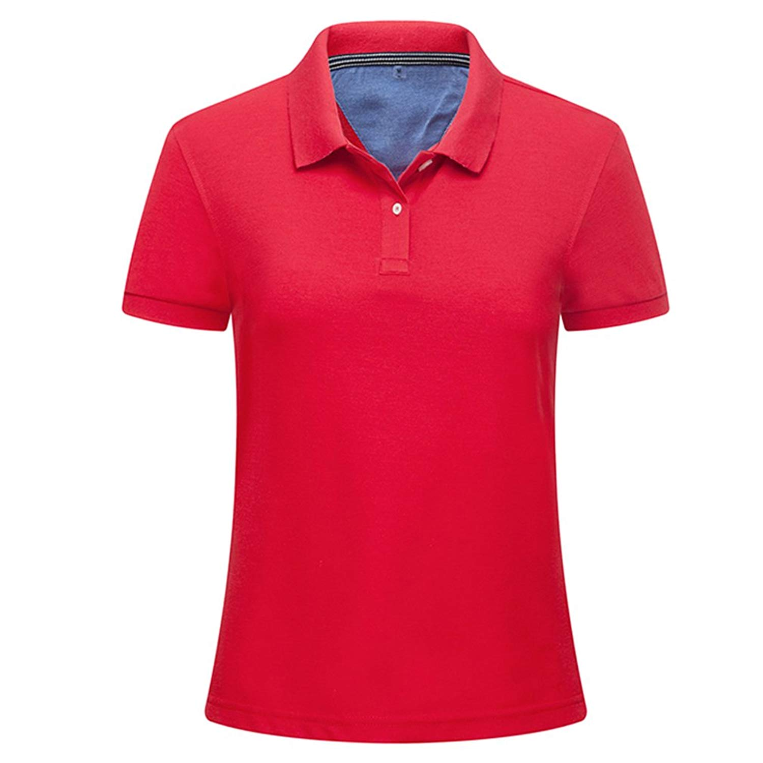 mansmoer Women's Outdoor Golf Polo T-Shirts Lady Breathable Wicking Fitness Tops