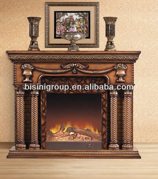 Classical solid wood electric fireplace bf09 42078 buy - Chimeneas decorativas en madera ...