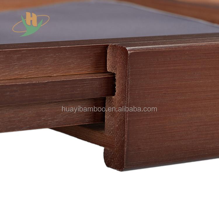 Горячая продажа бамбуковая Ванна Caddy с держателем для полотенец растяжимый лоток для ванной/завод