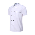Polyester Cotton Fabric Kitchen Chef Coat Hotel Uniform Hotel Staff Chef Uniforms