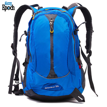 Sports Leisure Blue Nylon Sports Outdoor Mountaineering Waterproof Backpack