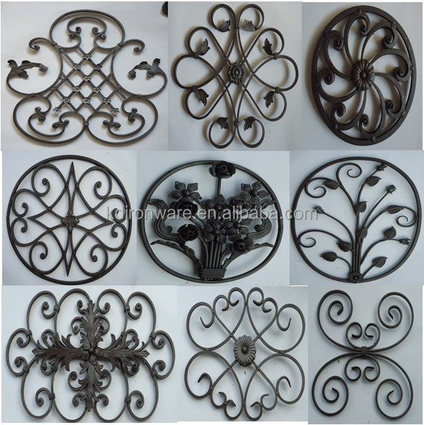 2015 New Design Wrought Iron Panels For Fence Gate