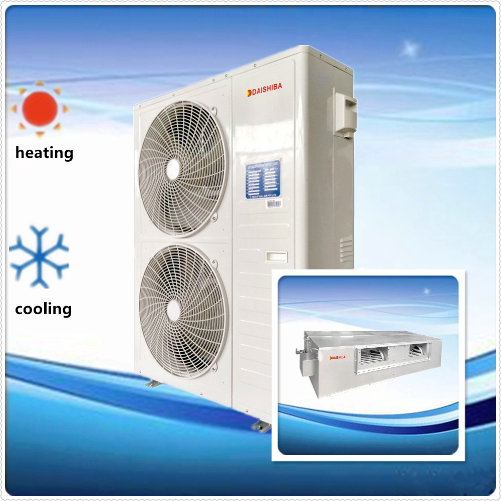Low Price Air cooled fixed speed R410A refrigerant split ducted central or commercial Air-conditioner for heating and cooling