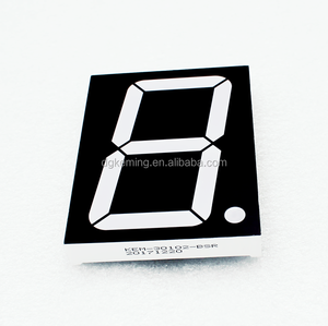 Super bright kem led single digit 3 inch seven segment display ultra red  for score board