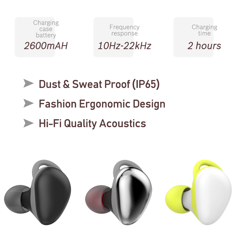 Factory Manufacture Mini In-Ear TWS Earbuds Handsfree Sport Wireless Earphone