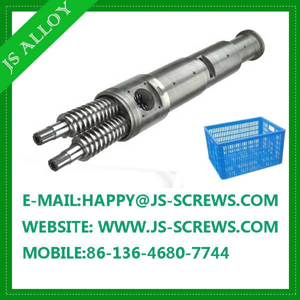 High productivity twin screw and barrel /conical twin screw and cylinder for extrusion line