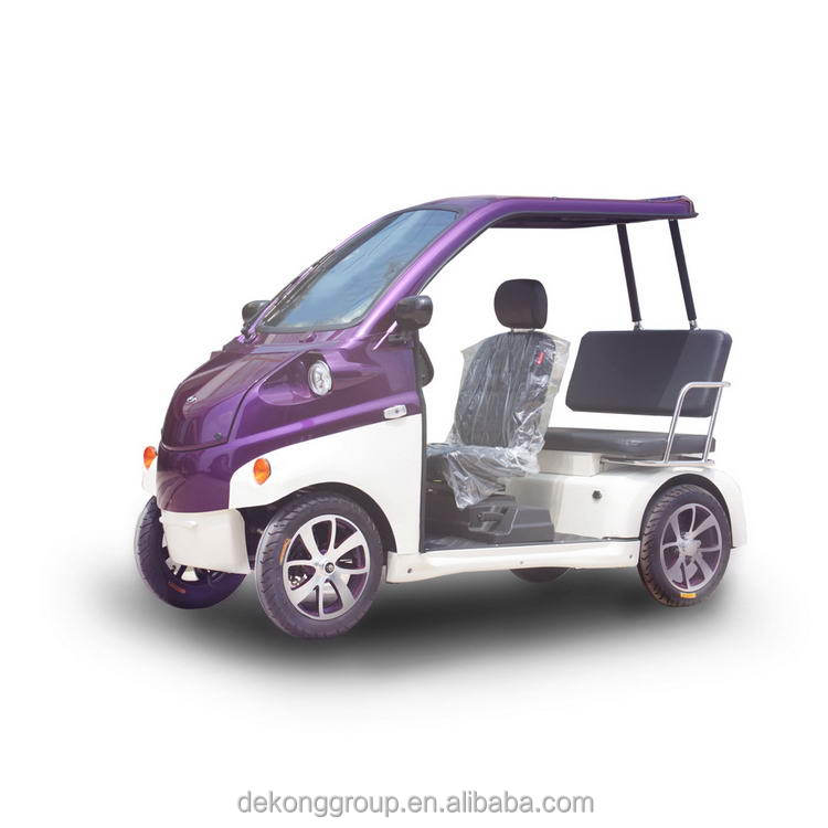 New energy 4 wheel 3 seats china small personal electric vehicle