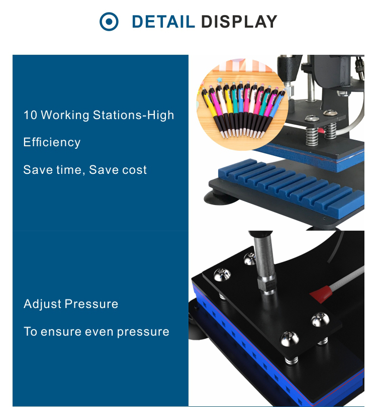 2019 New Design Wholesale Sublimation digital pen heat press printing machine manufacturer from china