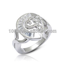 Latest Fashion Silver Plated Male Ring Jewelry
