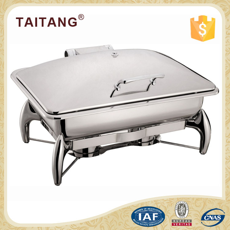 Best selling items glass lid chafing dish electric stainless steel food warmer