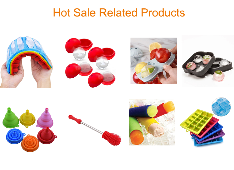 Ready to Ship Wholesale Amazon Bar Accessories BPA Free Silicone Ice Cube Tray