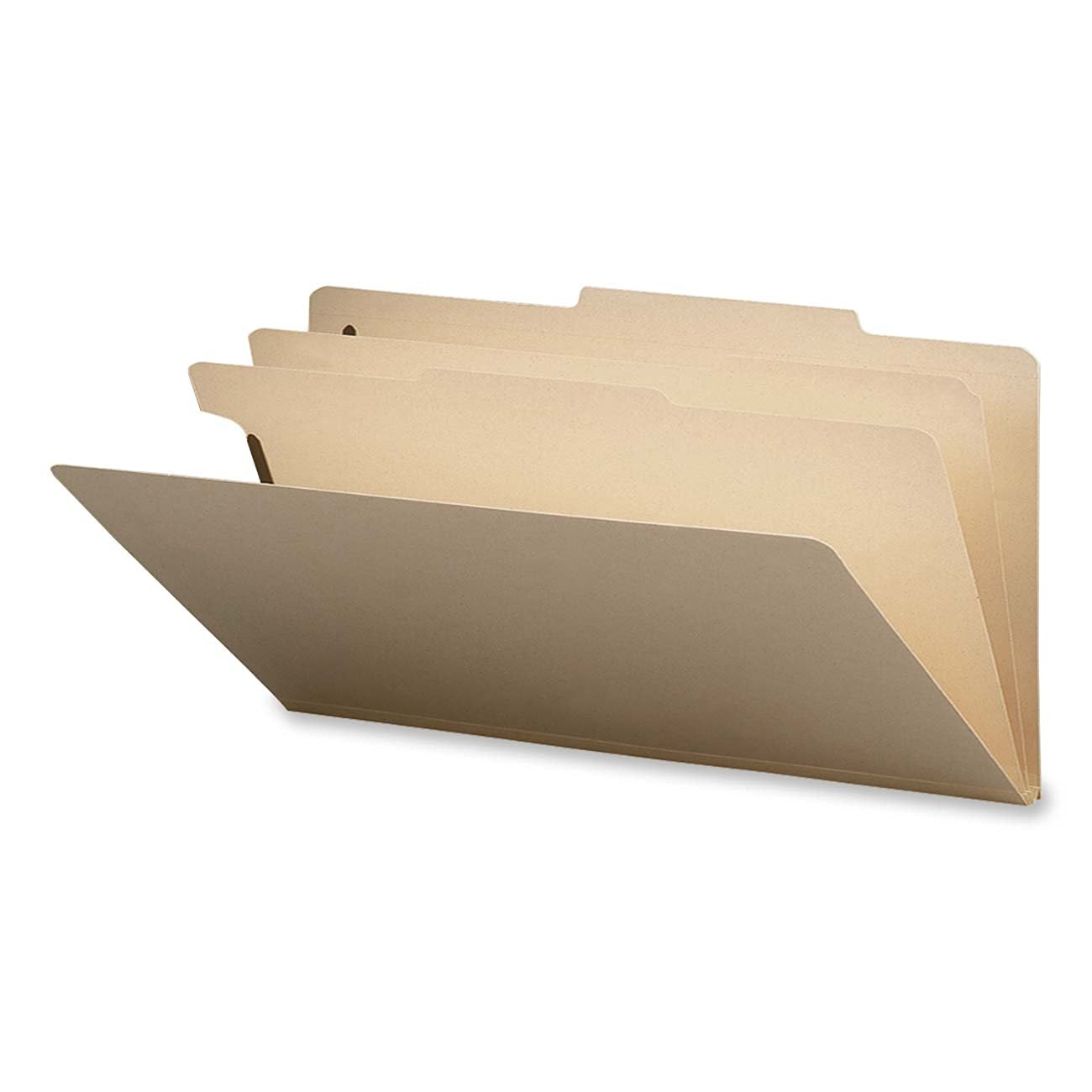 "Smead Classification File Folder, 2 Dividers, 2"" Expansion, Legal Size, Manila, 10 per Box (19000)"