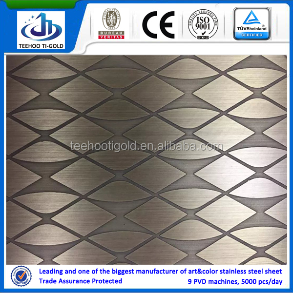etching stainless steel sheets for kitchen bathroom and hotel
