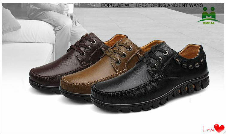 2014 lastest men casual leather shoes
