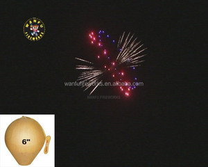 6 inch display shells fireworks or shell ball fireworks 1.3G UN0335