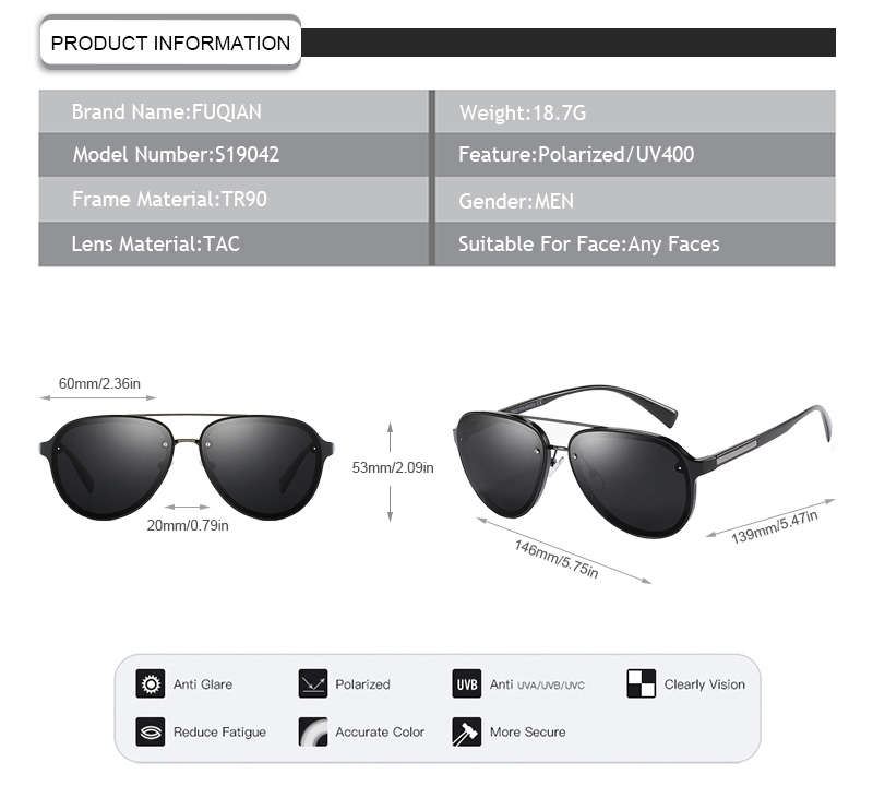 Fuqian polo sunglasses manufacturers for driving-11