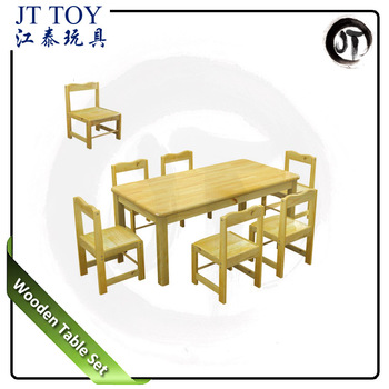 Jt17 5501 Preschool Kindergarten Cheap Six Seats Children Wooden