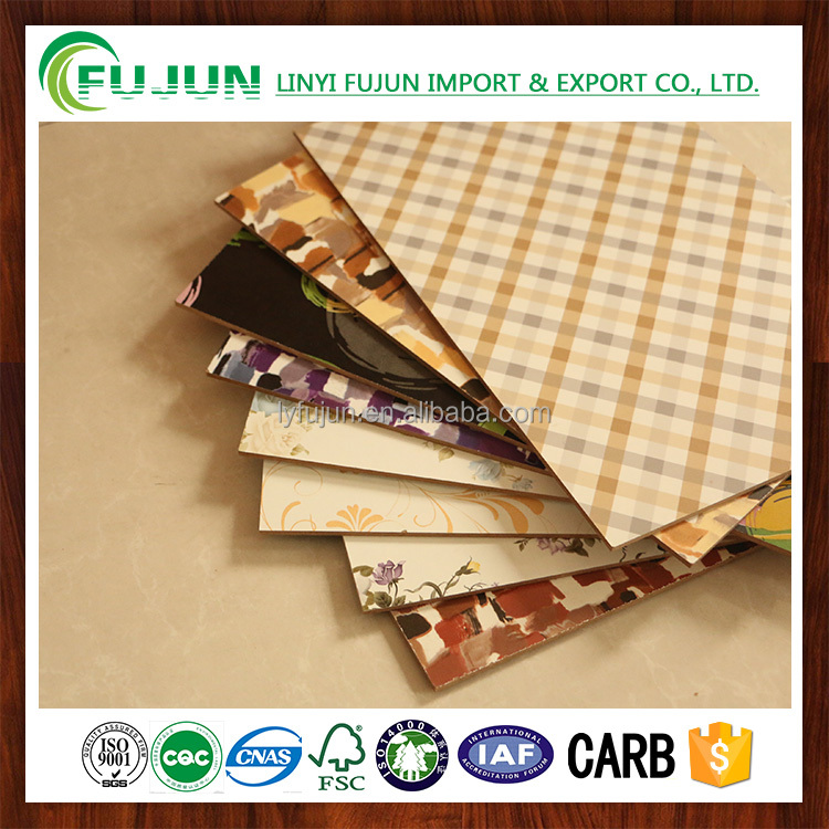 UV Color Paint Glossy standard size MDF Board for interior design