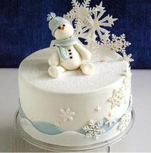 Ozdobná vánoční vločka na dort, 3 ks/set
