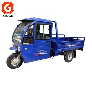 300Cc Closed Driver Cabin Petrol Tricycle Closed Heavy Load Cargo