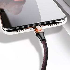 Intelligent Power off USB Charging Cable for iPhone X 8 6 breathing lighting USB Cable Automatic power-off Charger Cable