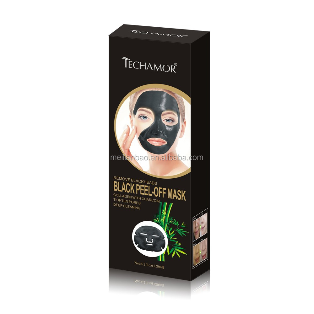 Charcoal Peel Off Blackhead Removal Face Mask Free pore black mud mask
