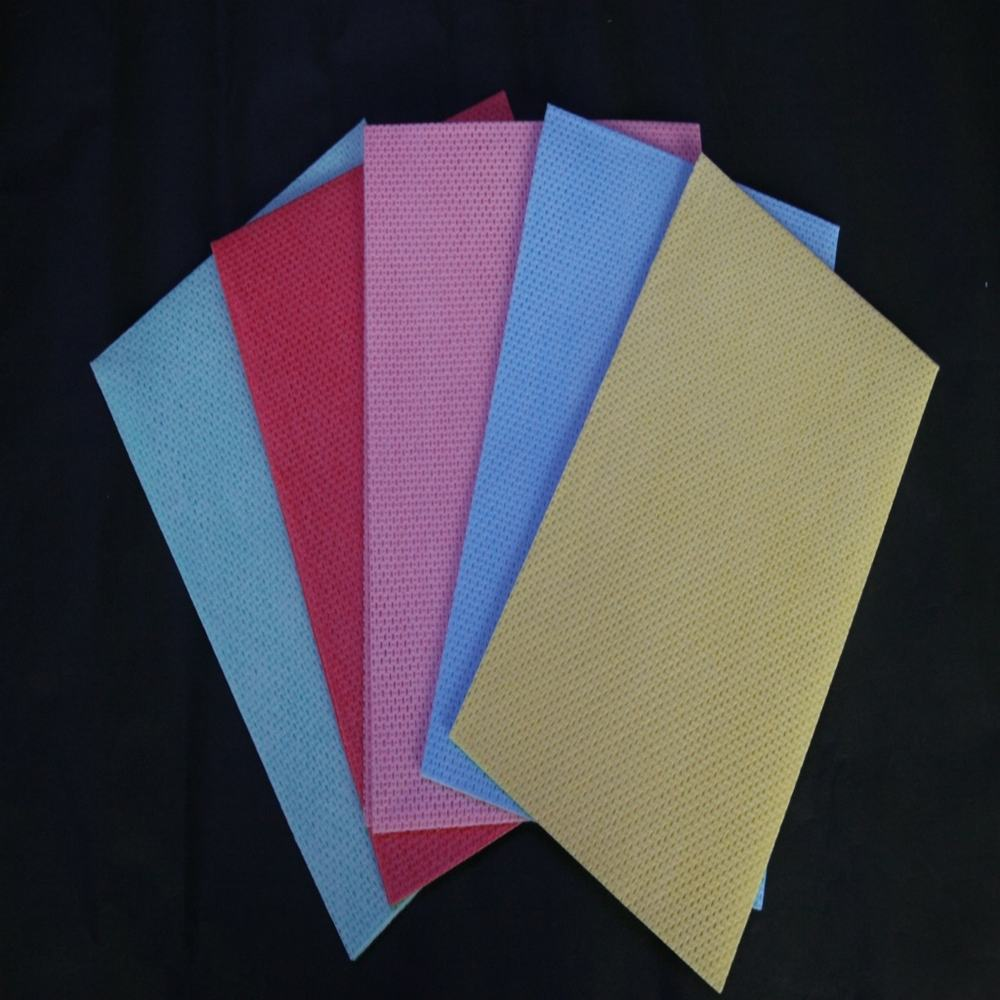 soft and comfortable feeling spunlace non-woven roll wholesale floor towel company nonwoven fabric cleaning cloth