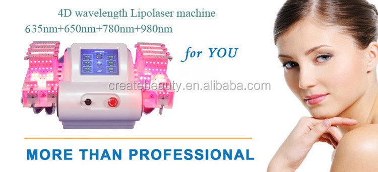 2017 new product mitsubishi 4D lipo laser with 4 wavelength 528 dipodes lipo laser weight loss slimming machine