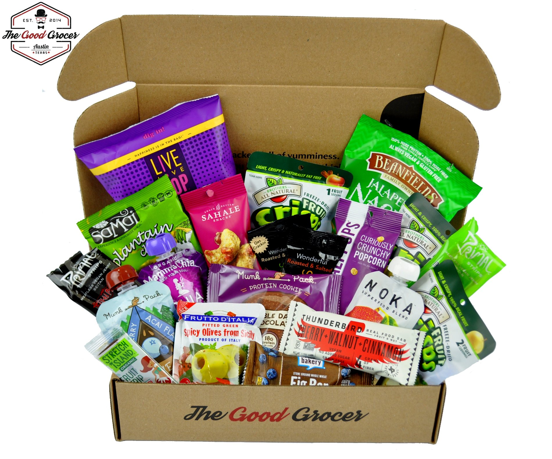 Premium VEGAN Snacks Care Package: Non-GMO, Vegan, Protein Bars, Cookies, Crispy Fruit, Vegan Jerky, Nuts, Trail Mix, Healthy Vegan Gift Box, Office Snack Variety Pack, College Student Care Package