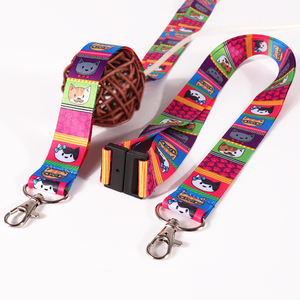 25mm wide Cute Colorful cat printed gift strap craft lanyards