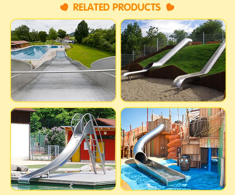 New children outdoor playground stainless steel slide,children slide