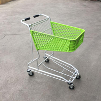 50L Plastic Basket Aluminum Trolley Shopping Carts, grocery shopping carts