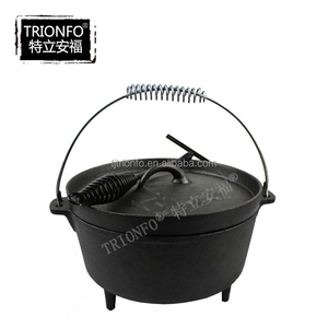 Manufacture of camping cookware/Hot sale pre-seasoned cast iron dutch oven camping cookware