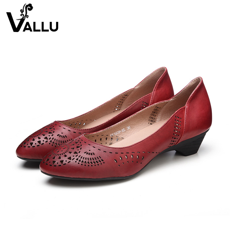 women heels fretwork pointed summer high leather guangzhou handmade genuine toe shoes pumps zHxTq0