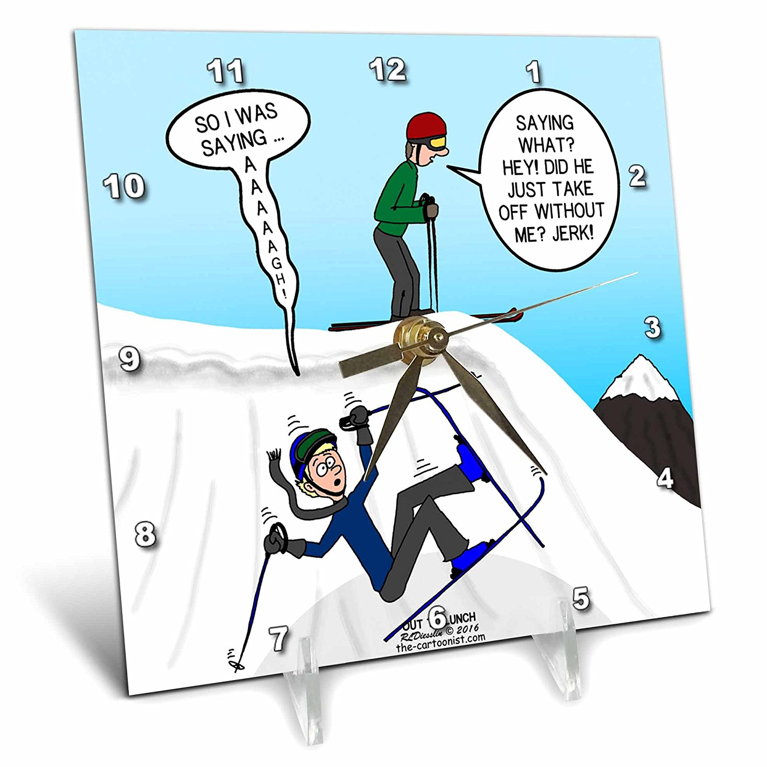 Buy Rich Diesslins Funny Out to Lunch Cartoons - Ski Fall