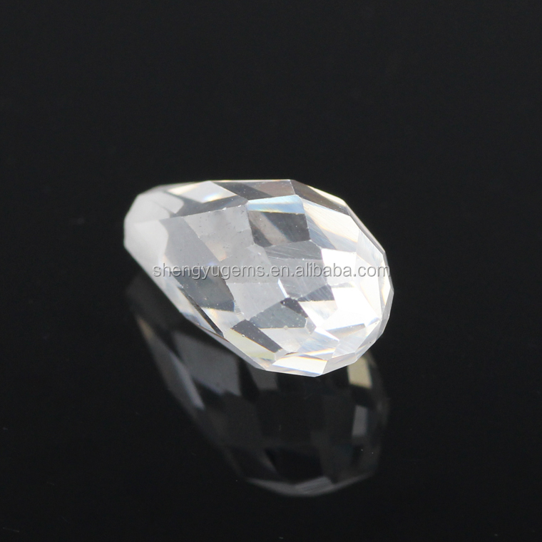 water drop shape cubic zirconia white fashion cubic zirconia for jewelry