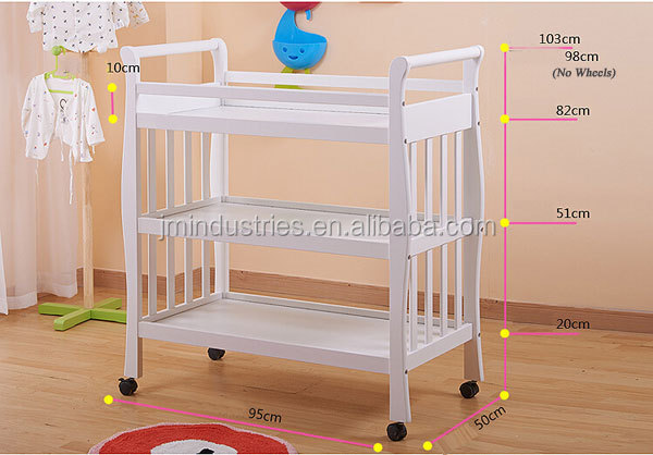 New Design Product Baby Changing Station And Wall Storage ...