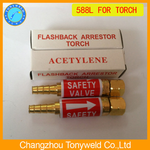 welding torch safety valve Flashback arrestor 588L