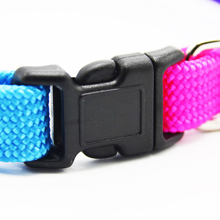 High Quality Colors Buckle 1.0 Seven Rainbow Pet Dog Adjustable Bell Collar