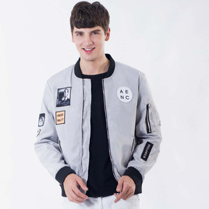 Fashion Zipper Polyester Short Mens Jackets Wholesale Cheap Man Jacket(A1804)