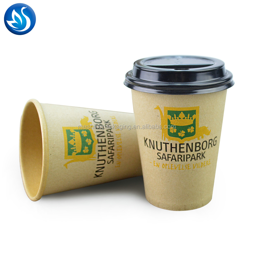 Biodegradable Compostable Custom Printed Disposable Pla Paper Cup For Coffee