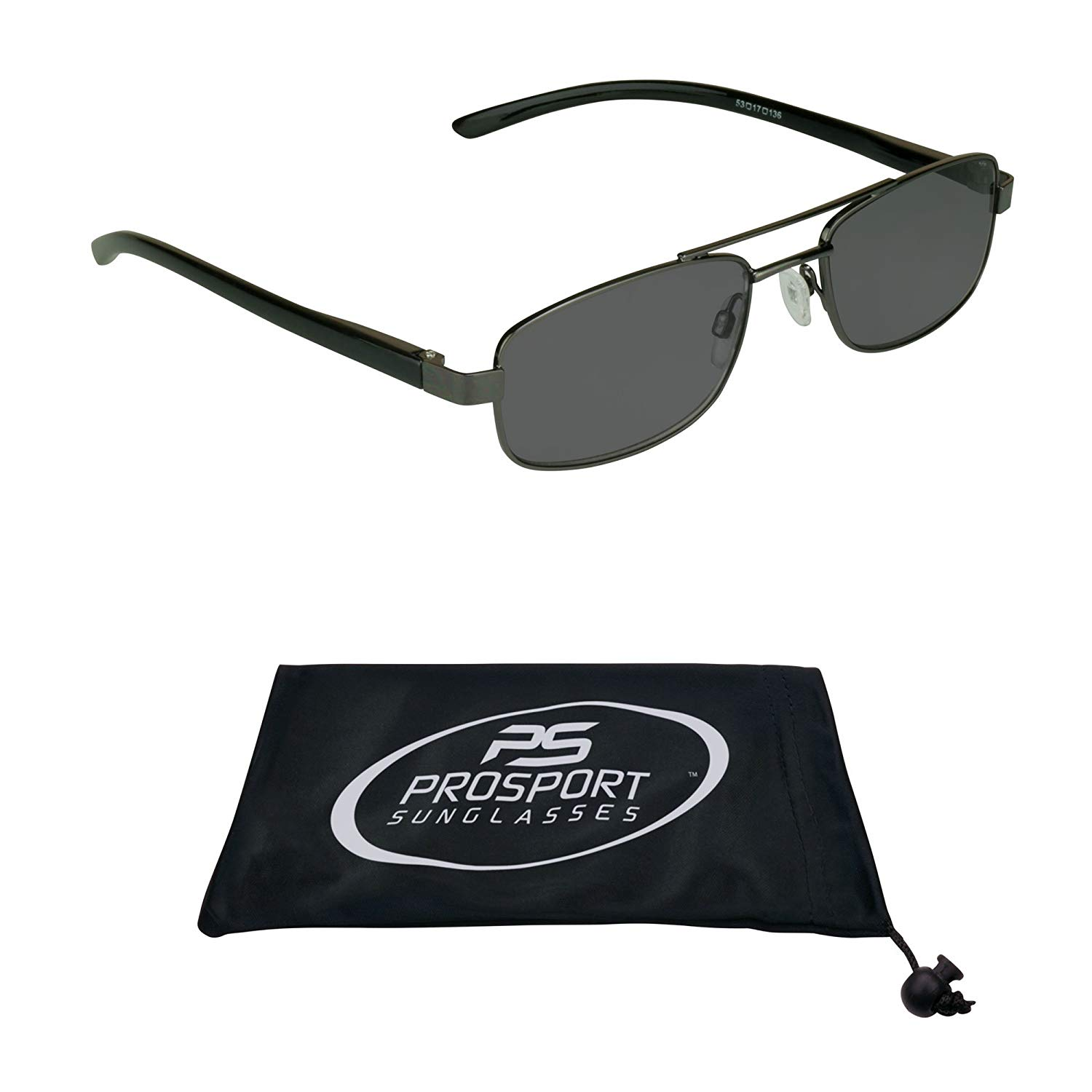 Aviator Reading Glasses Tinted Full Lens Sun Readers. Durable High Nickel Metal Square Frame