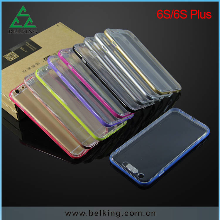 Call Light LED Hybrid TPU+PC Bent Case For iPhone 6/6s/6s Plus Flash Phone Case