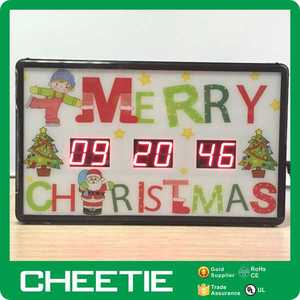 Large Red LED Countdown to Christmas Wall Timer Christmas Countdown Clock