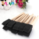 5 Pcs Large Bristle Flat Brushes for Acrylic Oil Painting and Craft, Short Handle