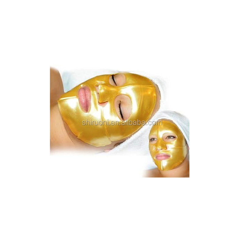100% D'acide Hyaluronique pur et Q10 Collagène Cristal Masque Facial En Or OEM/ODM