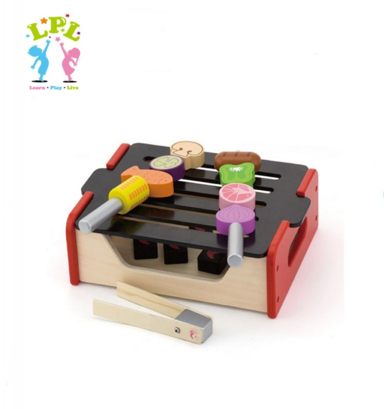 Wholesale 2017 new featured product solid wood kids educational toy kitchen play set